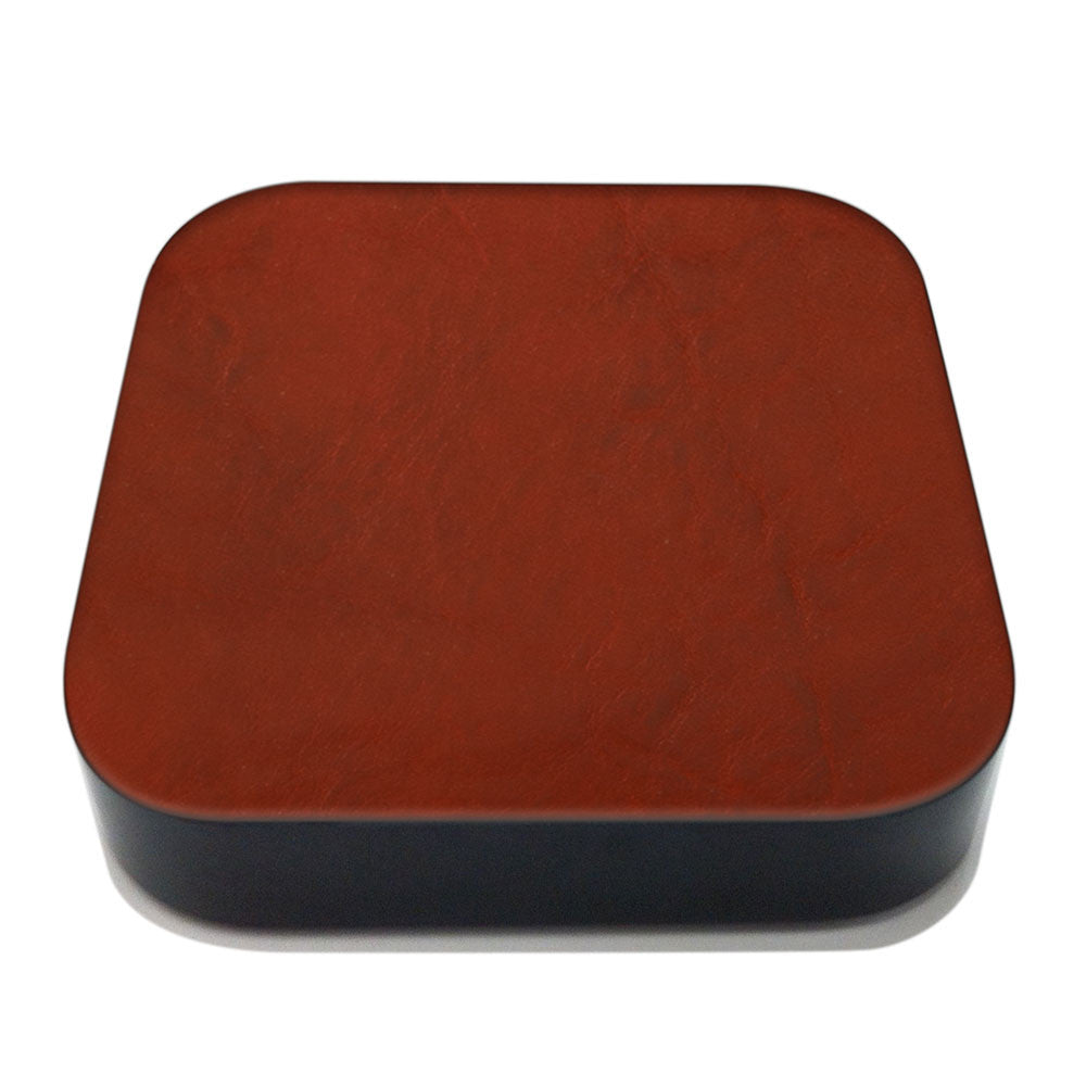 Crimson Apple TV Leather Cover