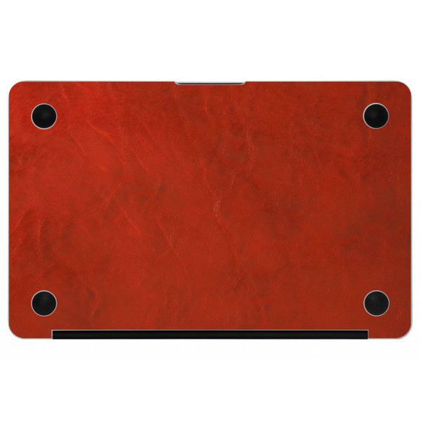 Crimson MacBook Leather Bottom Cover