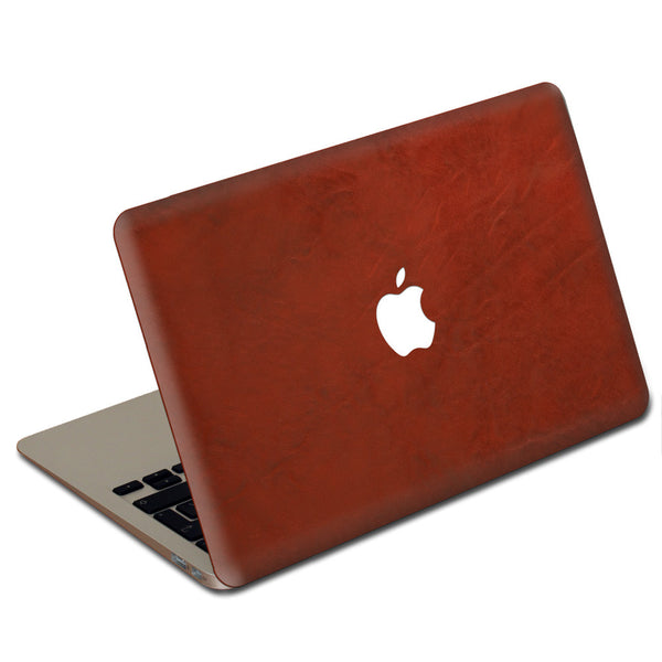 Crimson MacBook Leather Cover