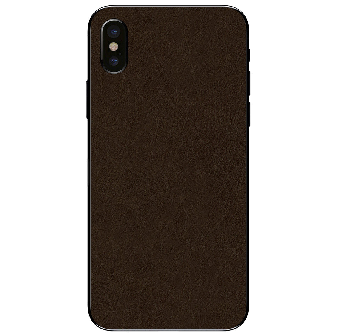 Espresso iPhone X Leather Skin