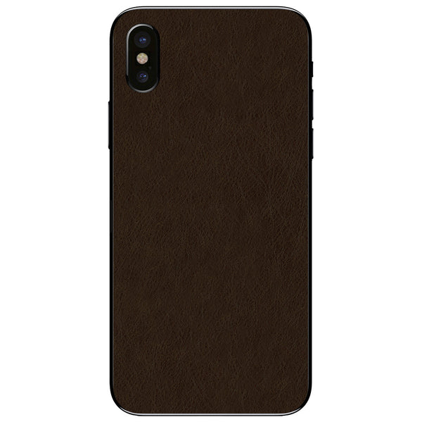 Espresso iPhone XS Leather Skin