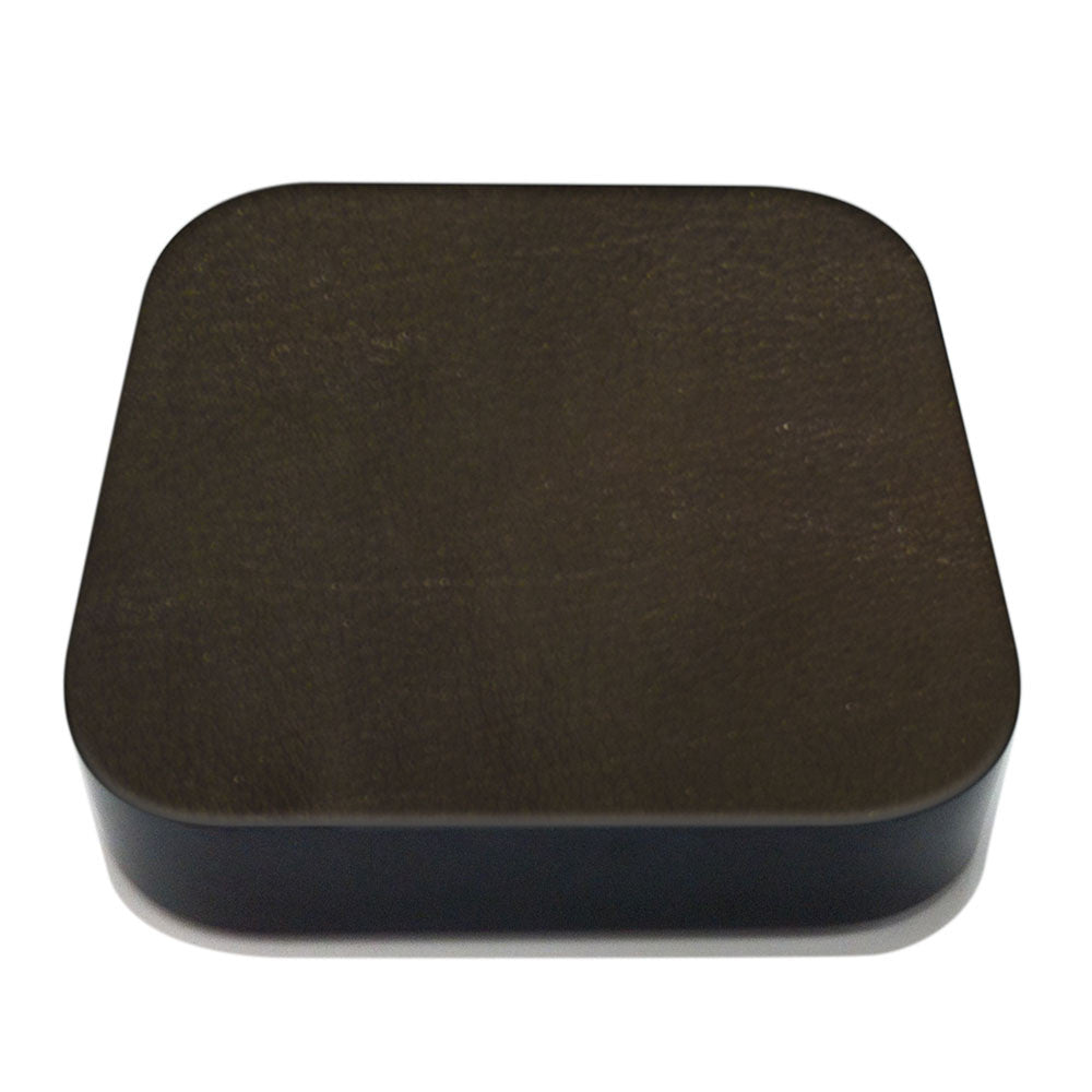 Espresso Apple TV Leather Cover