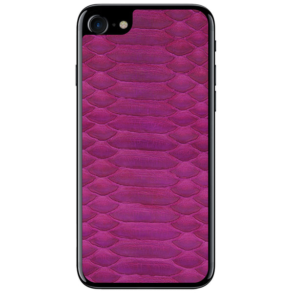 Fuchsia Python iPhone 7 Leather Skin
