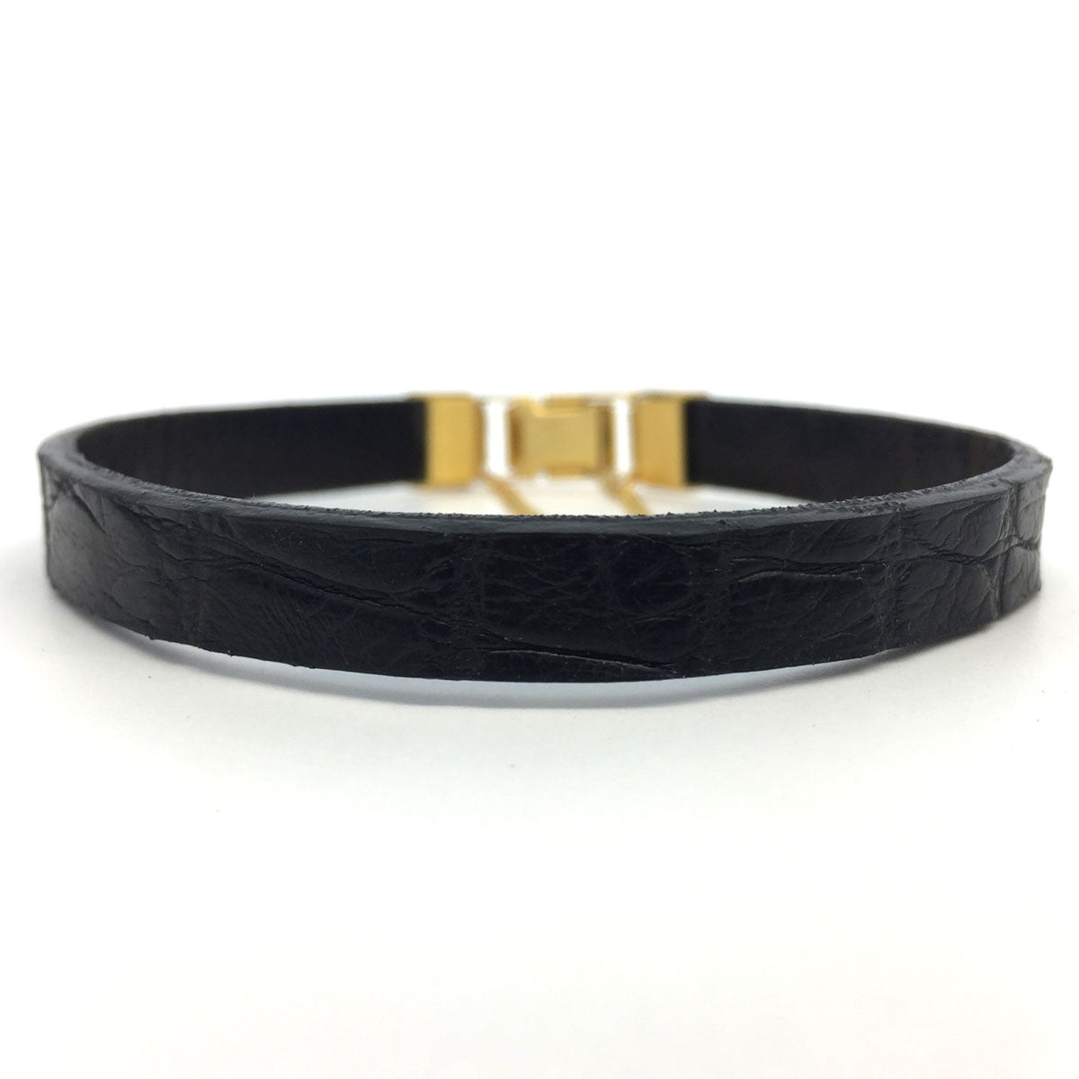 Black Alligator Bracelet