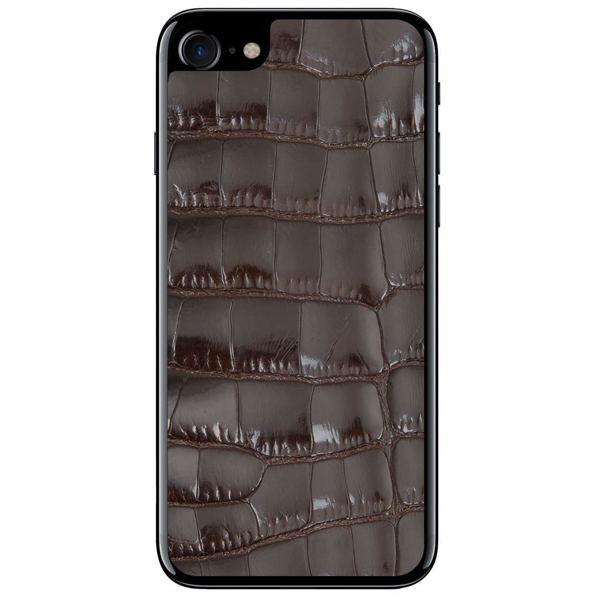 Gloss Brown Alligator iPhone 7 Leather Skin