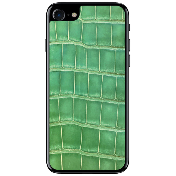 Gloss Green Alligator iPhone 7 Leather Skin