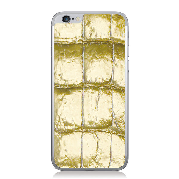 Gold American Alligator iPhone 6/6s Leather Skin