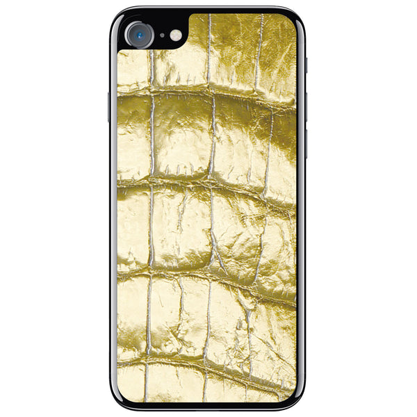 Gold Alligator iPhone 8 Leather Skin