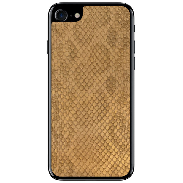 Gold Anaconda iPhone 8 Leather Skin