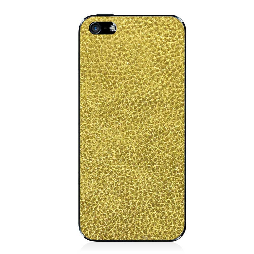 Gold iPhone 5 - 5S - SE Leather Skin