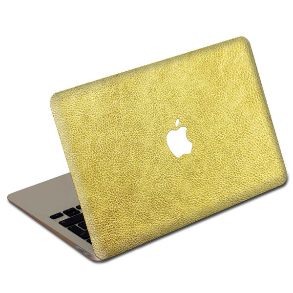 Gold MacBook Leather Cover