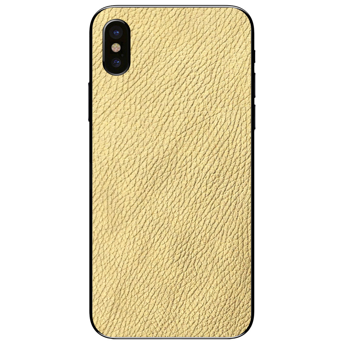 Gold iPhone X Leather Skin