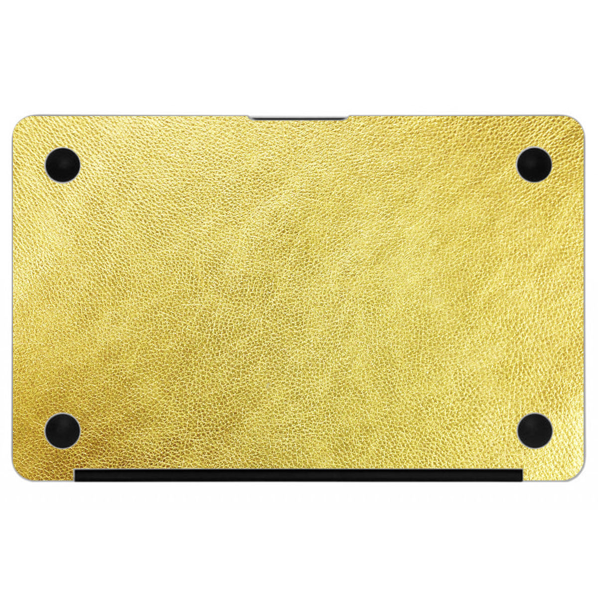 Gold MacBook Leather Bottom Cover