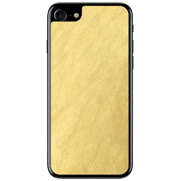 Gold iPhone 8 Leather Skin