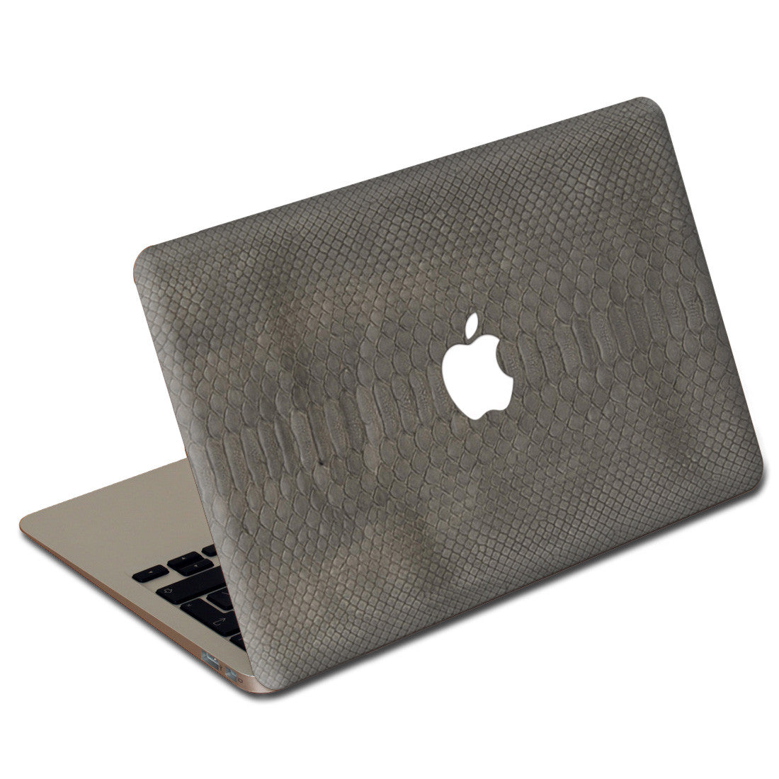 Gray Python MacBook Leather Cover