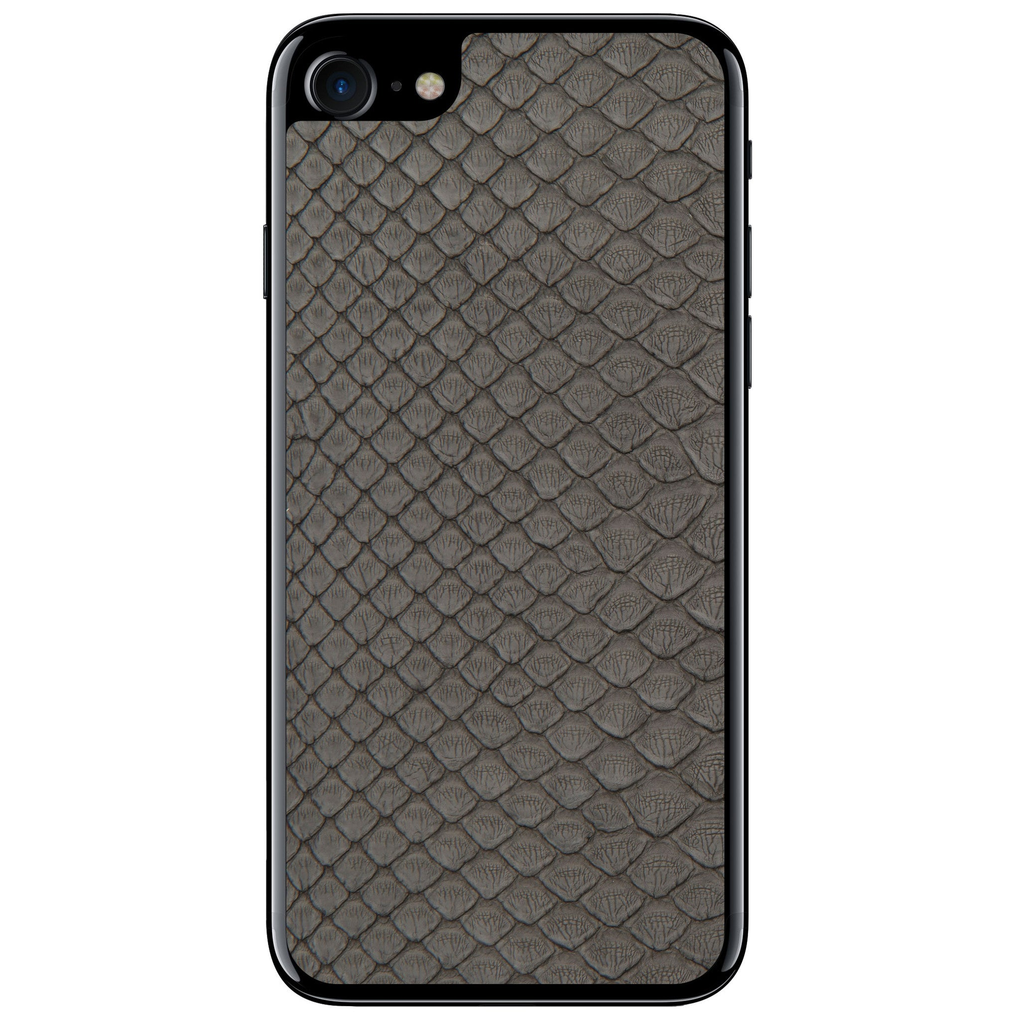 Gray Python Back iPhone 8 Leather Skin