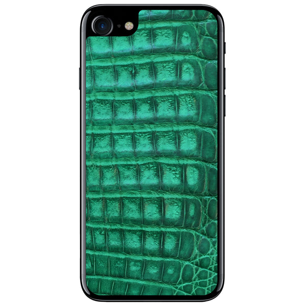 Green Crocodile iPhone 8 Leather Skin