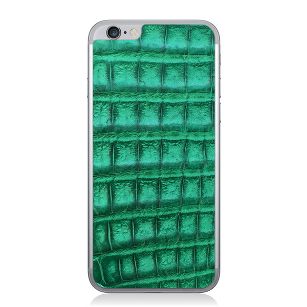 Green Crocodile iPhone 6/6s Leather Skin