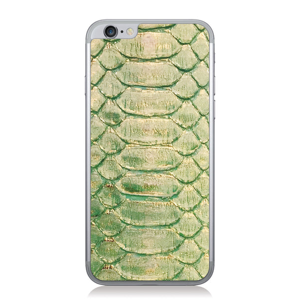 Seafoam and Gold Foil Python iPhone 6/6s Leather Skin