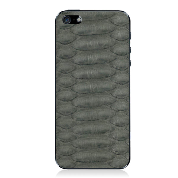 Gray Python iPhone 5 - 5S - SE Leather Skin