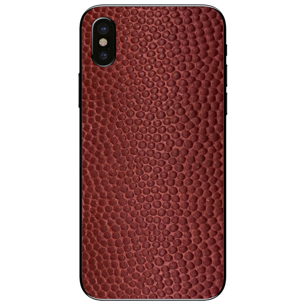 Horween Football iPhone XS Leather Skin