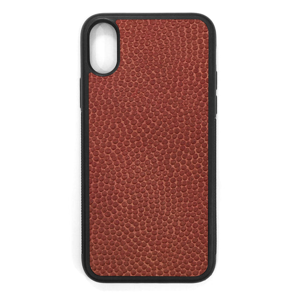 Horween Football iPhone XS Leather Case