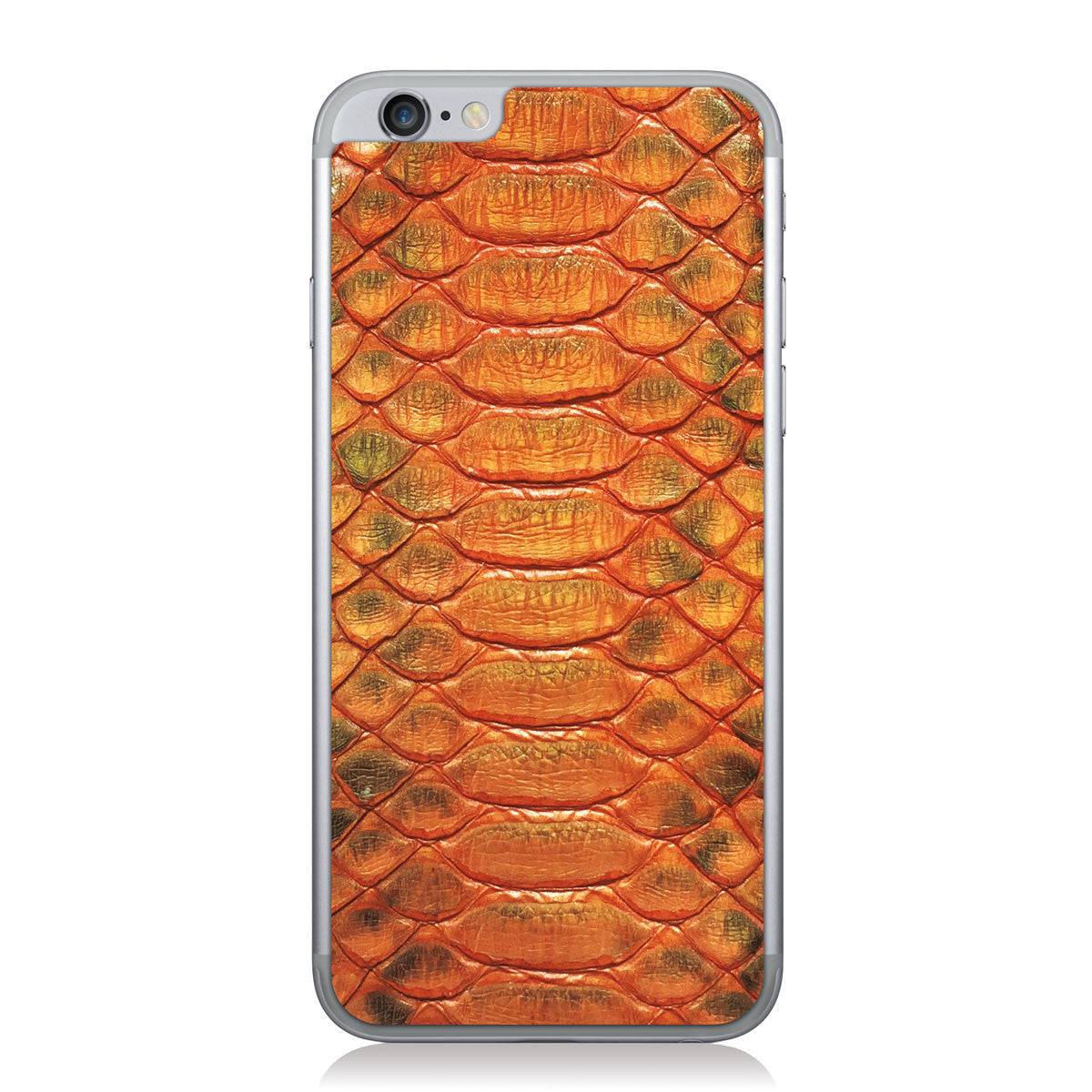 Hot Orange Python iPhone 6/6s Leather Skin