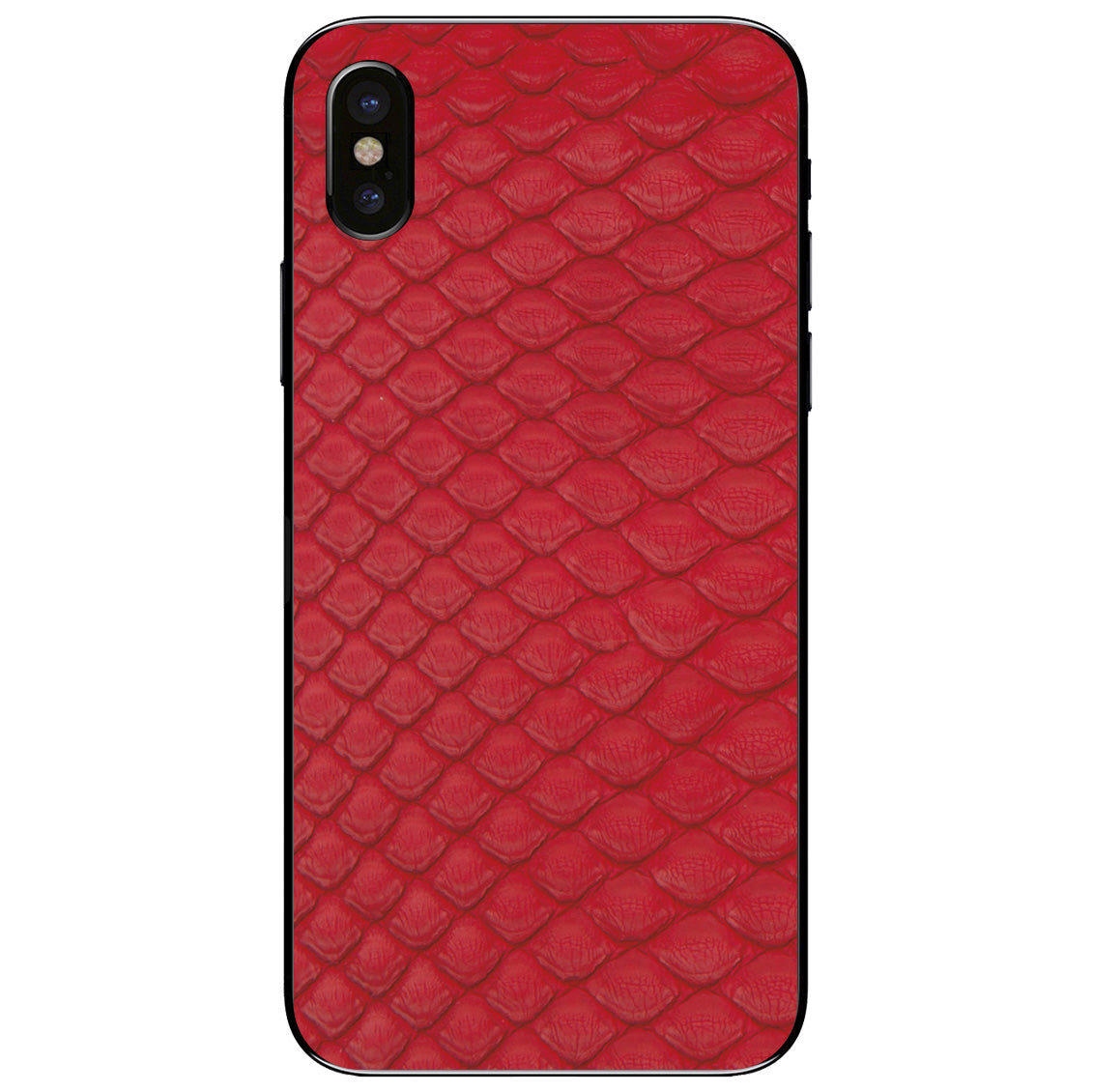 Red Python Back iPhone XS Leather Skin