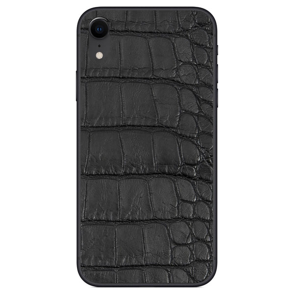 Black Alligator iPhone XR Leather Skin