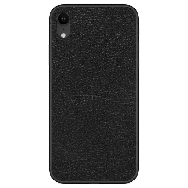 Black iPhone XR Leather Skin