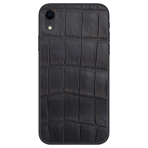 Oiled Brown Alligator iPhone XR Leather Skin
