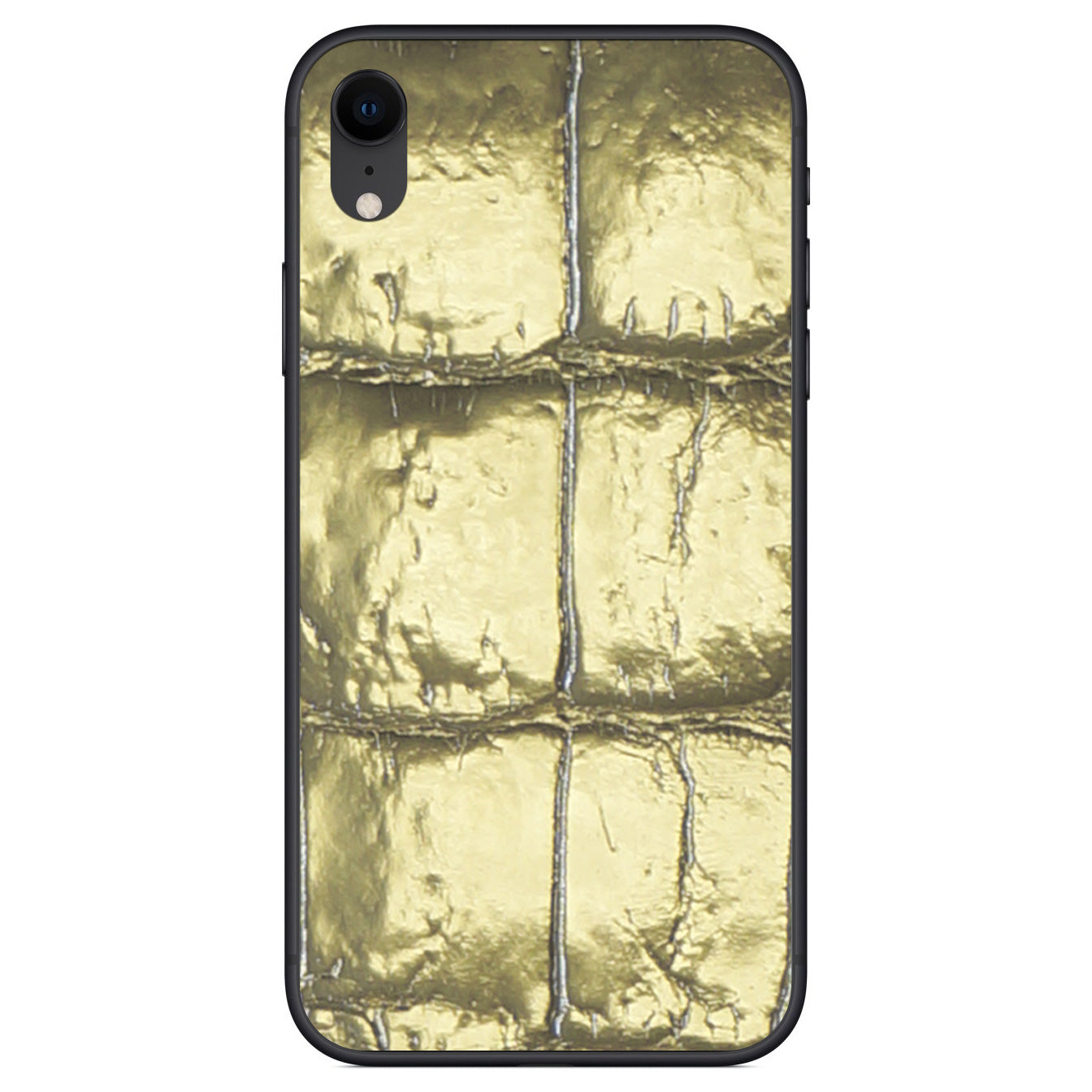 Gold Alligator iPhone XR Leather Skin