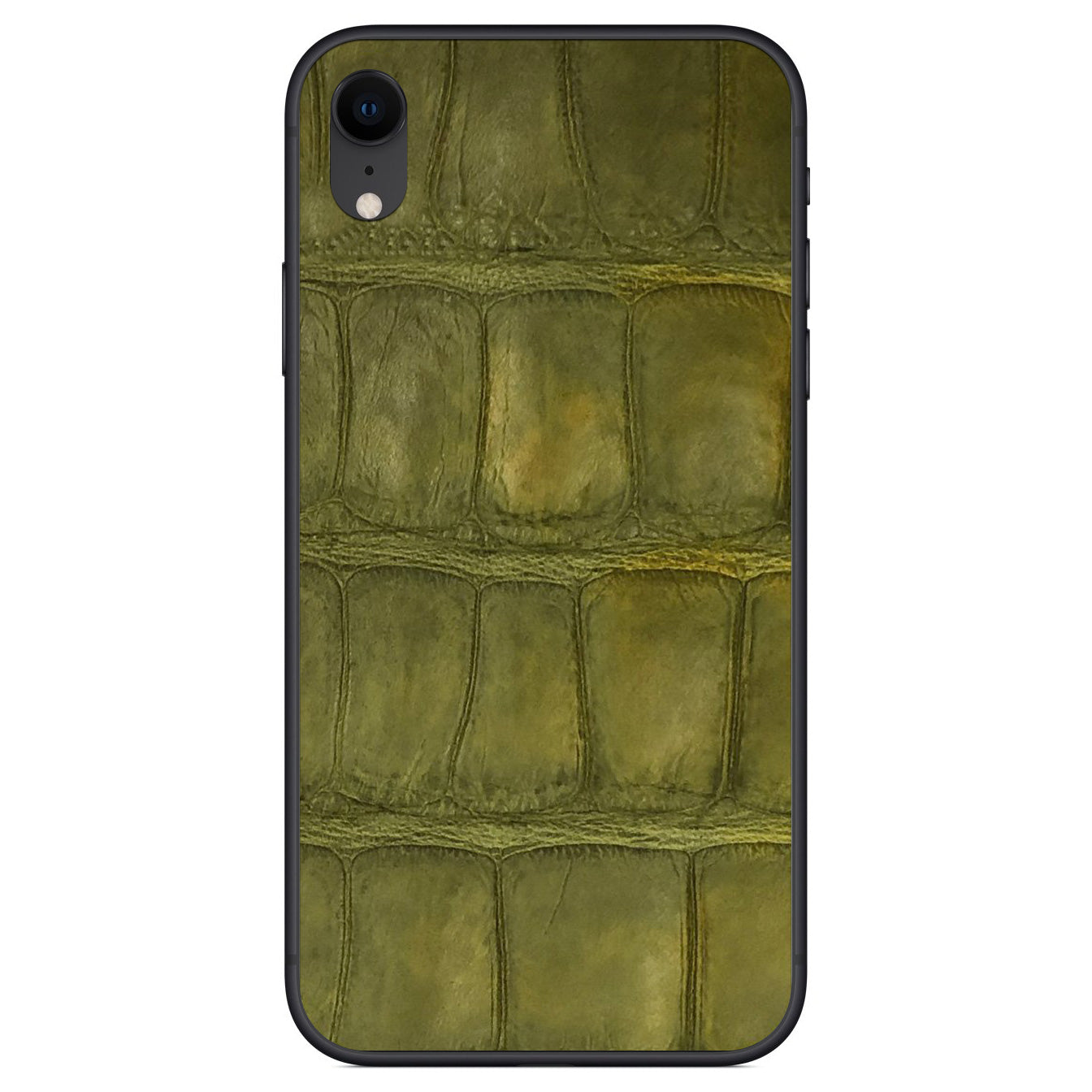 Green Alligator iPhone XR Leather Skin