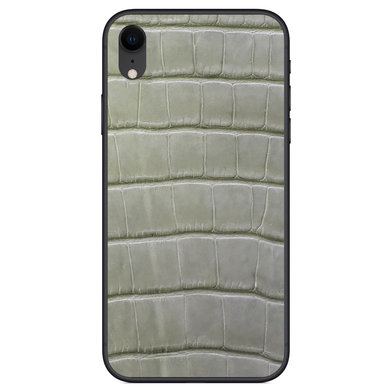 Laurel Green Alligator iPhone XR Leather Skin