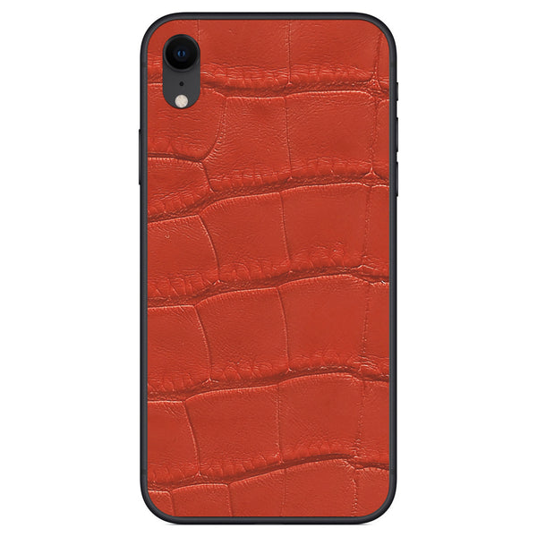 Red Alligator iPhone XR Leather Skin