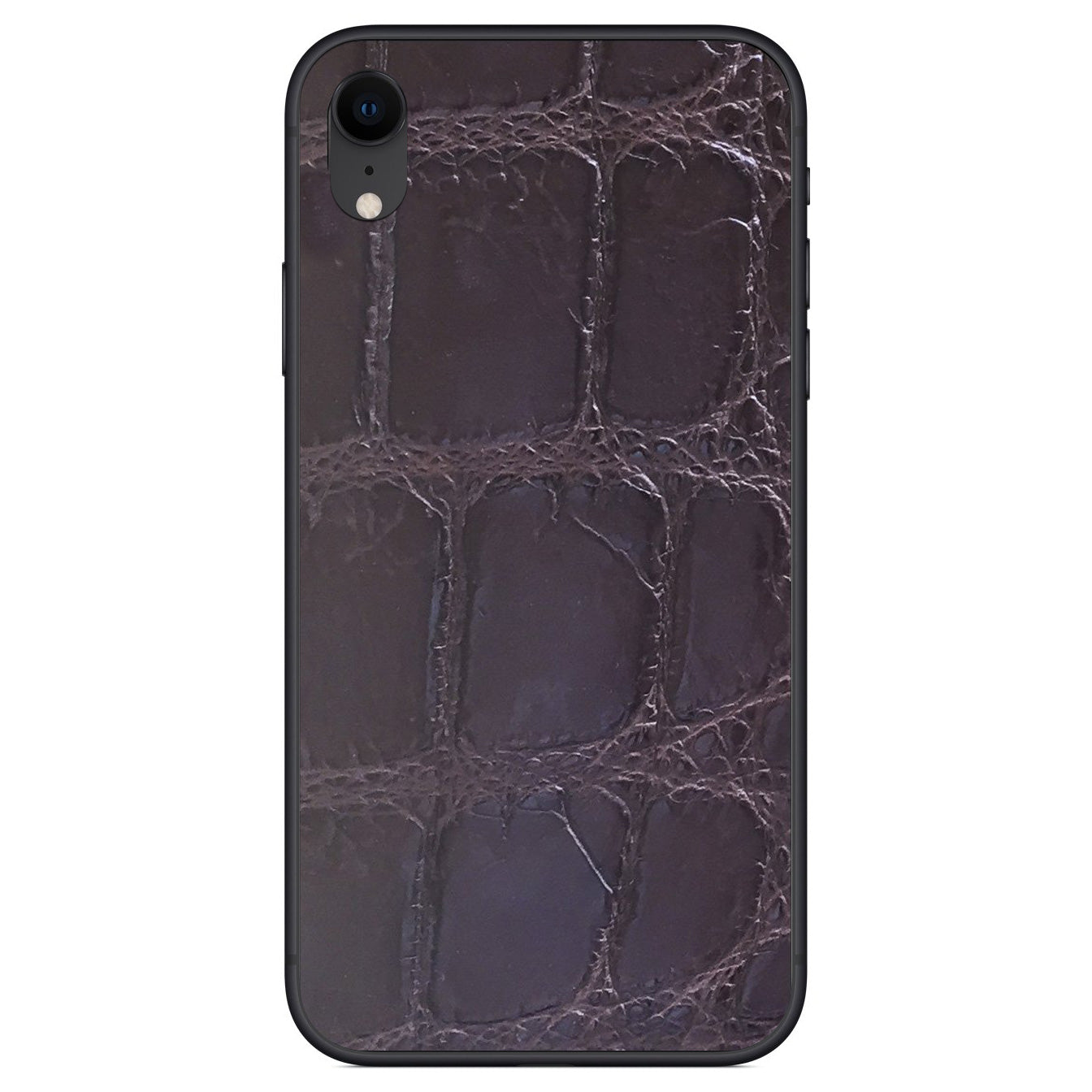 XL Brown Alligator iPhone XR Leather Skin
