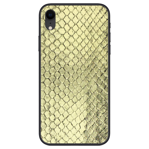 Gold Foil Anaconda iPhone XR Leather Skin