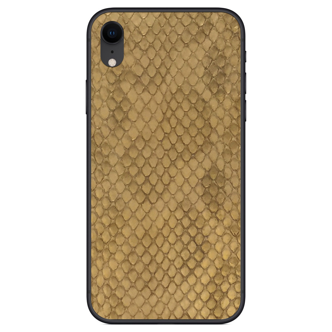 Gold Anaconda iPhone XR Leather Skin