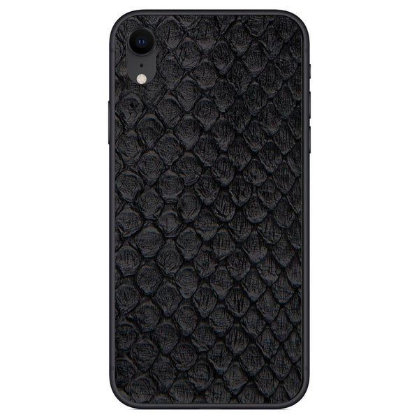Black Anaconda iPhone XR Leather Skin