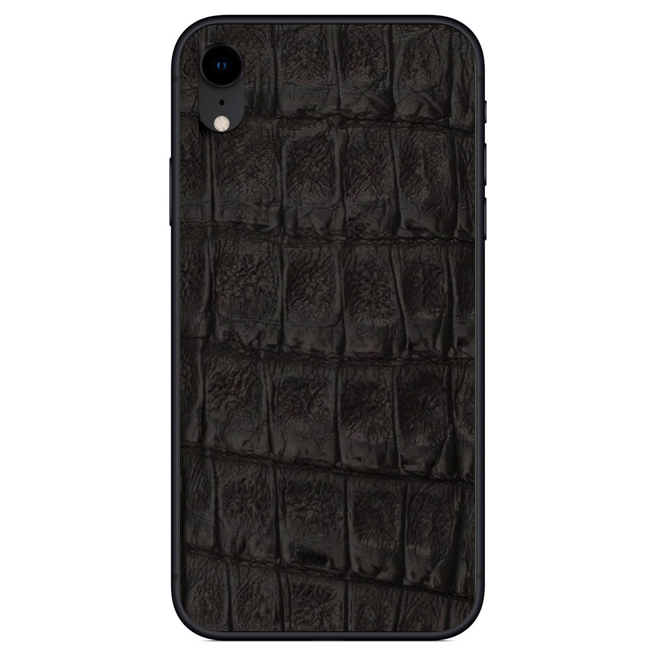 Black Crocodile iPhone XR Leather Skin