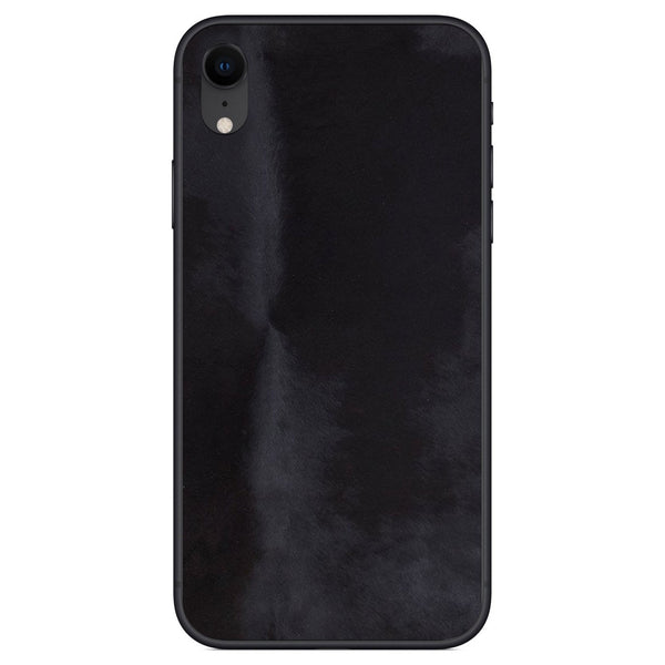 Black Pony Hair iPhone XR Leather Skin