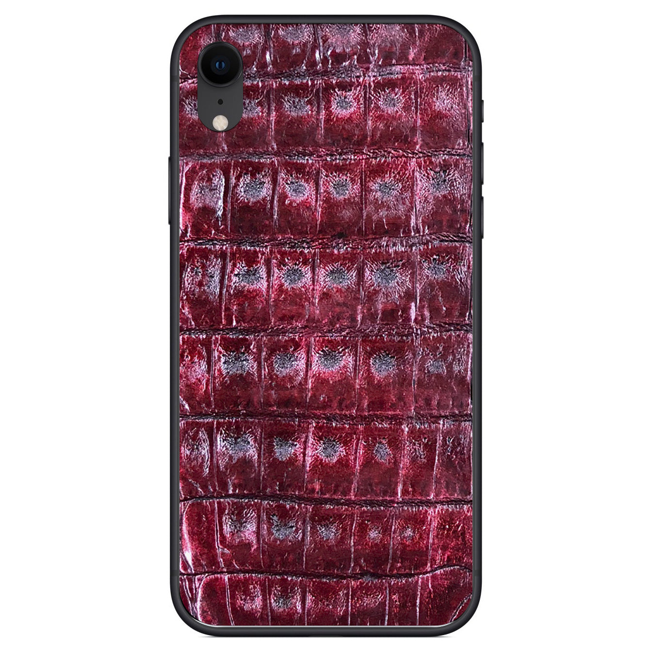 Cherry Crocodile iPhone XR Leather Skin