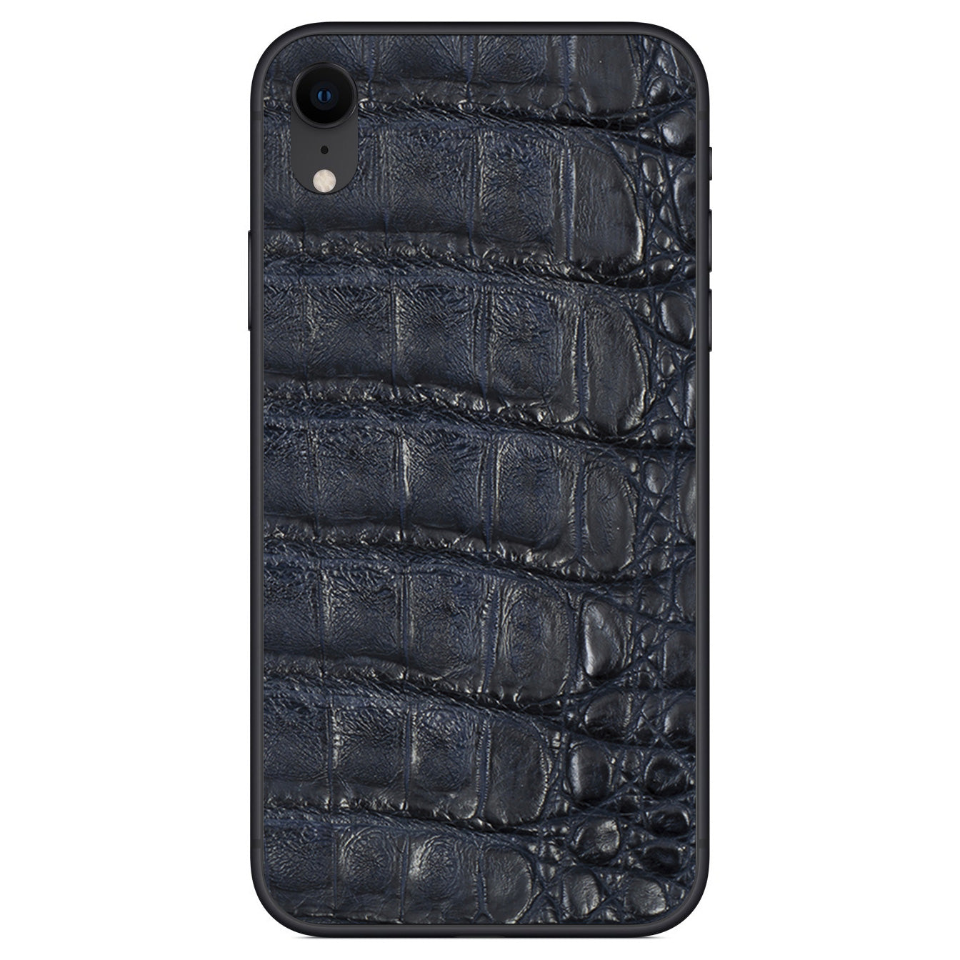 Navy Crocodile iPhone XR Leather Skin