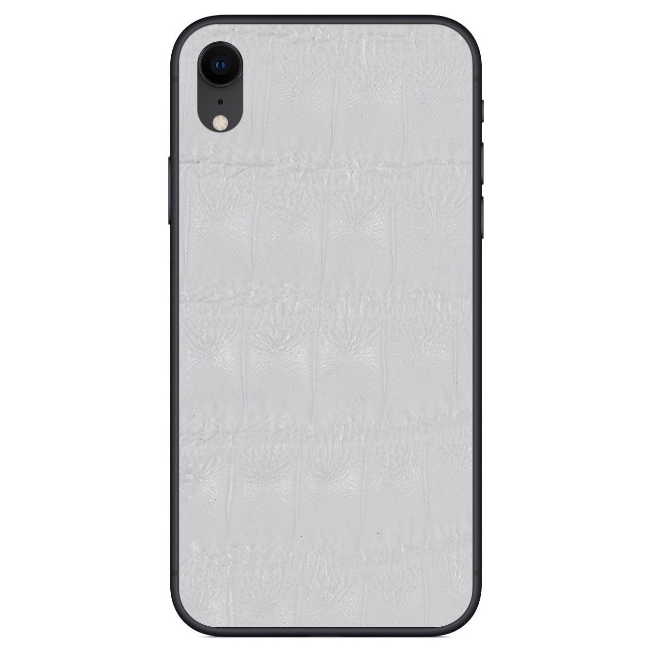 White Crocodile iPhone XR Leather Skin