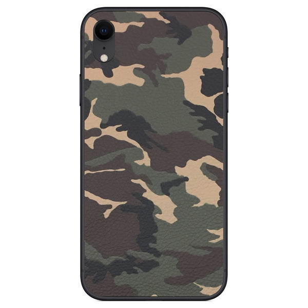 Camouflage iPhone XR Leather Skin