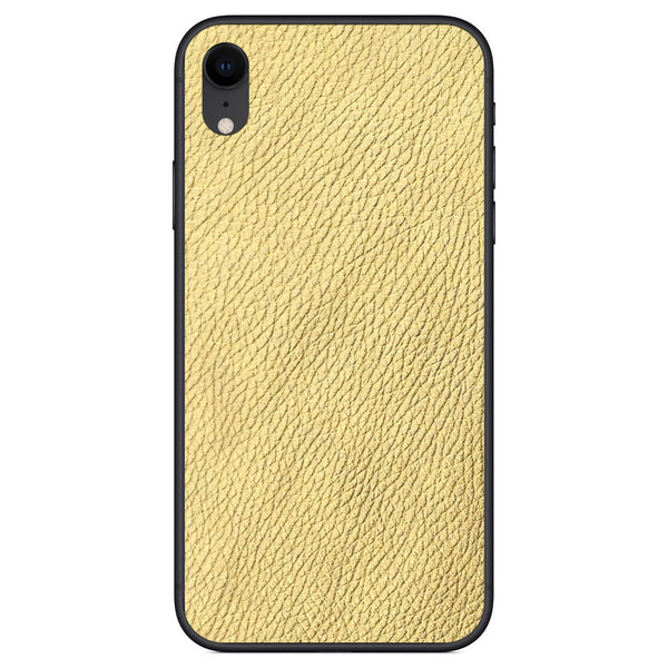 Gold iPhone XR Leather Skin