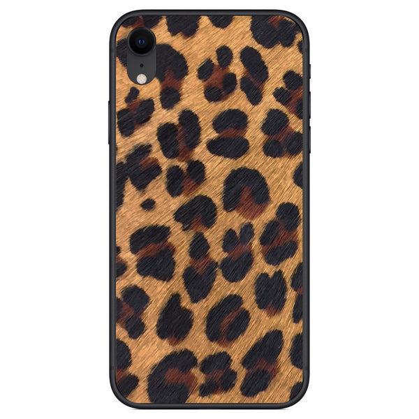 Leopard Print Pony Hair iPhone XR Leather Skin