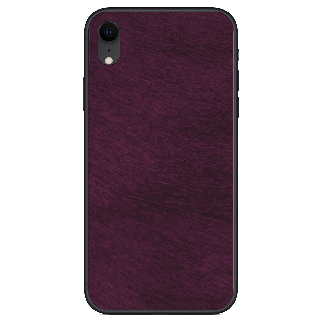 Violet Calf Hair iPhone XR Leather Skin