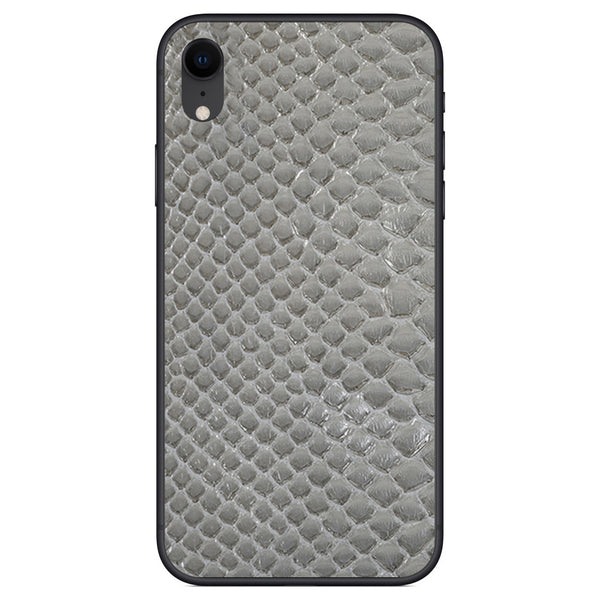 Gray Python Back iPhone XR Leather Skin