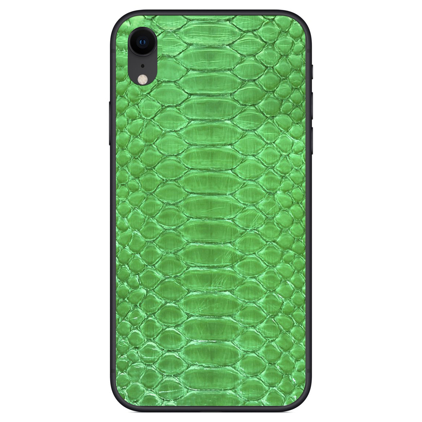 Lime Green Python iPhone XR Leather Skin